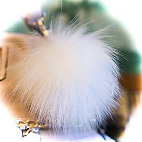 3 POR 2 !18cm Blancanieves Massive suave mullido Nueva piel del mapache grande verdadero diseñador de calidad única del regalo Furry Friends teléfono árbol de Navidad Mujer de grande PonPom Pom Señora