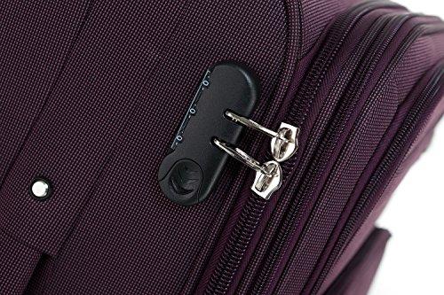 51RwMTDWmIL - Beibye 4ruedas maleta de viaje 8005plástico maletín equipaje Maleta Juego de L XL de m en 5colores (Lila, Juego)