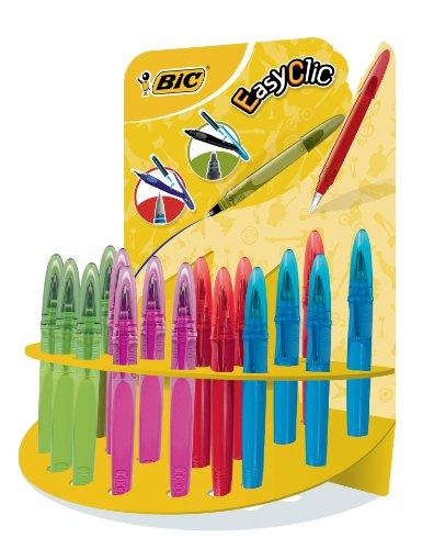 Preisvergleich Produktbild BIC Füller EasyClic Standard, Medium, mit seitlichem Nachfüllmechanismus, sortierte Schaftfarben, Display à 24 Stück
