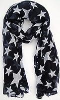 Navy Blue Star Scarf Ladies Fashion Scarves