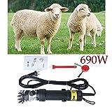 Vinteky 690W Tosatrice elettrica Professionale per Cavalli, Tosatura per Pecore Efficiente Risparmio di Lavoro (Nero)