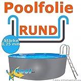 Freizeitwelt-Online Poolfolie 4,50 bis 4,60 x 0,92 m x 0,25 mm Schwimmbadfolie Innenhülle Auskleidung 4,6 m Ersatzfolie Pool 460 cm Ersatz 4,5 Innenfolie rund Pools 0,90 m