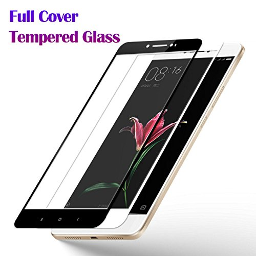 NETBOON® Original Full Coverage Glass For Xaiomi Max Screen Protector Glass Guard For Mi Max 6.4 Inch Full Edge to Edge cover, Ultra Thin, Anti-Scratch, Bubble Free, 9H hardness – Black