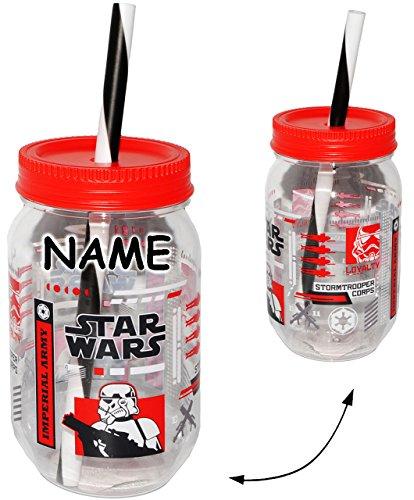 1-Stck--Trinkbecher-Trinkflasche-mit-Strohhalm-Deckel-incl-Name-Star-Wars-Stormtrooper-Imperial-Army-550-ml-ZAK-Getrnkebecher-Becher-Sommerglas-Trinklernbecher-Plastikbecher-zB-Limonade-Erfrischung-So