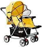 #8: Tiffy & Toffee Baby Stroller Pram with Rocker (Sunny Yellow)