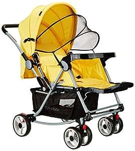 Tiffy & Toffee Baby Stroller Pram with Rocker (Sunny Yellow)