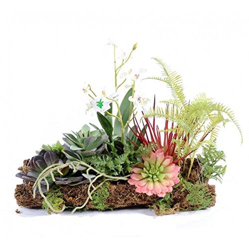 bouquet artificiel orchidee succulent composition - h : 30