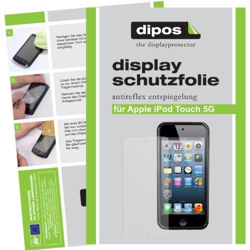 2x Dipos Antireflex Displayschutzfolie Apple iPod Touch 5G - aktuelles Modell 2012