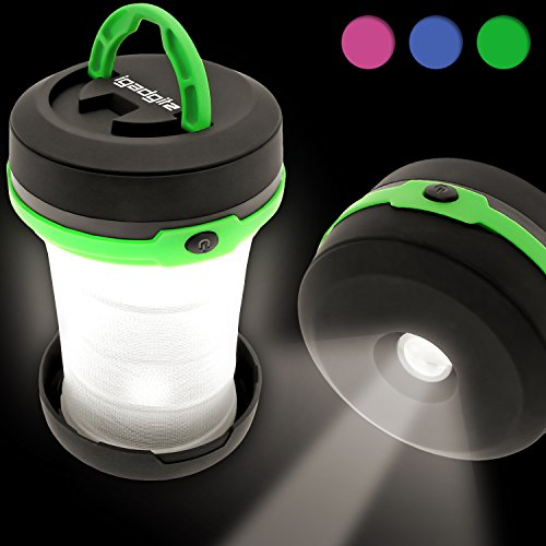 igadgitz 3 in 1 Pop Up LED Camping Laterne + Taschenlampe + Blitzlicht