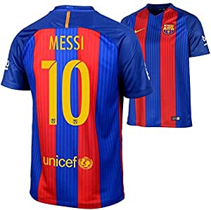 2016-2017 Barcelona Home Nike Football Shirt (Messi 10, 128)