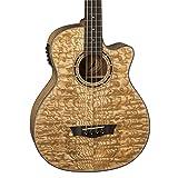 Dean Guitars EQABA GN Exotica Quilt Ash Acoustic/Electric Bass Gitarre mit Aphex