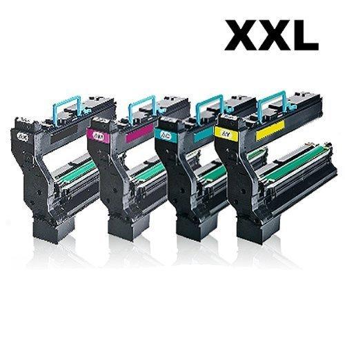 4x Kompatible Toner für Konica Minolta Magicolor 5430DL 5430DLD 5430DLX Black , Cyan , Magenta , Yellow - Sparset (Minolta Konica Farb-drucker)