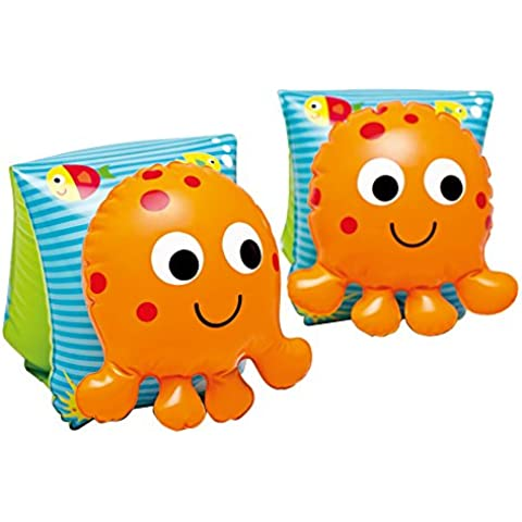 Intex Lil' Octopus Inflatable Arm Bands Floatation Sleeves, for Ages 3-6 by Intex