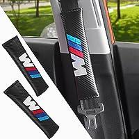 2pcs Protectores de hombro para cinturón almohadillas de cinturón de seguridad Bmw logo