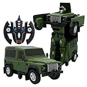 Rastar - Coche radicontrol Land Rover Defender transformable (85340)
