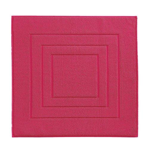 Vossen 1100540377 Feeling - Badeteppich, 60 x 60 cm, cranberry - Cranberry Farbe Teppich