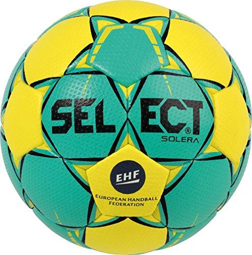 Select Solera-Balón de Balonmano, Todo el año, Color grün Gelb, tamaño 1