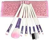 SODIAL(TM) 8pcs Pro Pink Make up Brushes Set with Case