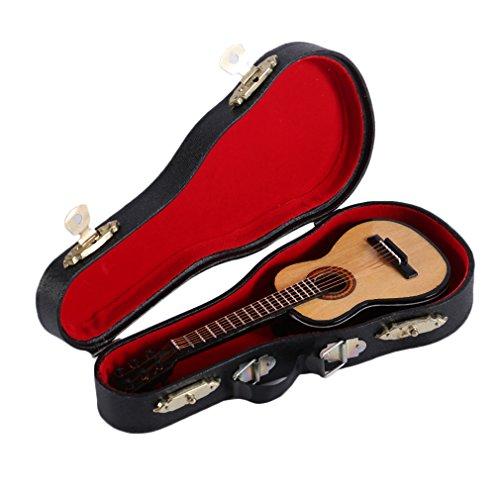 arbürsten Mini Holz Gitarre Modell Musikinstrumente Collection dekorativen Ornamenten (Gitarren-ornamenten)