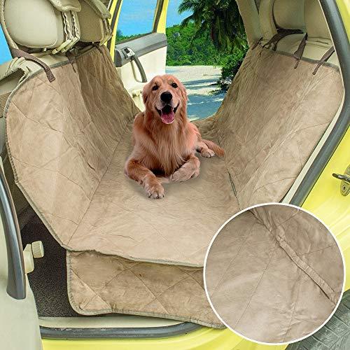 Yiye Zhiqiu Hund Auto gesteppte Wildleder Hängematte Sitzbezüge Hund Rücksitz Auto Abdeckung Autositzbezug Hundesicherheitsgurt Abdeckung Auto Reisezugang (Size : 142x119cm) (Gesteppte Autositzbezüge Für Hunde)