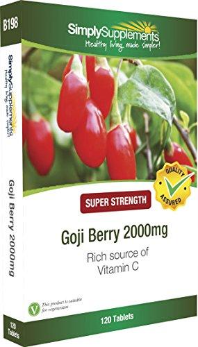 Goji Beere 2000mg - 120 Tabletten - Versorgung für bis zu 2 Monaten - Fördert ein gesundes Herz, Blutkreislauf und gesunde Haut - SimplySupplements (Eisen Einheitliche)