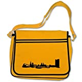 Freizeittasche mit Chemnitz Skyline Bag Base® BagBase Retro Messenger 40x30x10cm goldgelb/schwarz