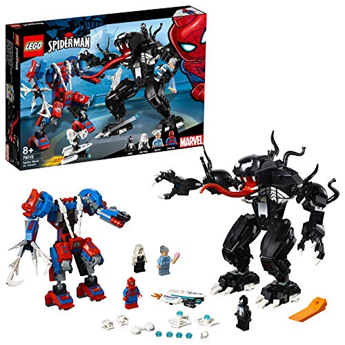 LEGO 76115 Super Heroes Spider Mech vs. Venom Fight Building Set, Marvel Toy Vehicles for Kids Best Price and Cheapest