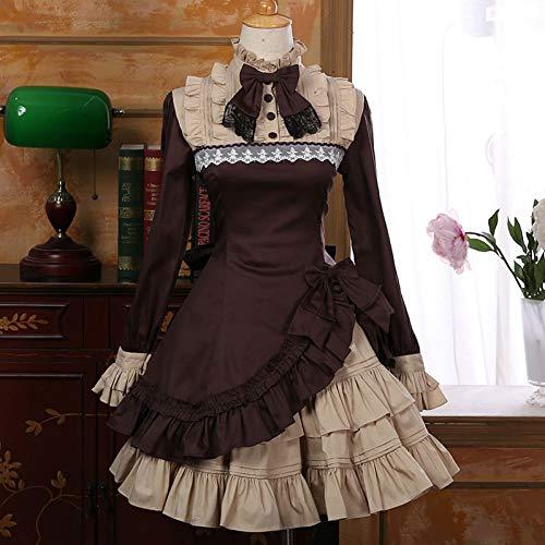 QAQBDBCKL Gothic Lolita Princess Kleider Vintage Damen Kleid Lolita PartybekleidungKostüme (Steampunk Kostüm Princess)