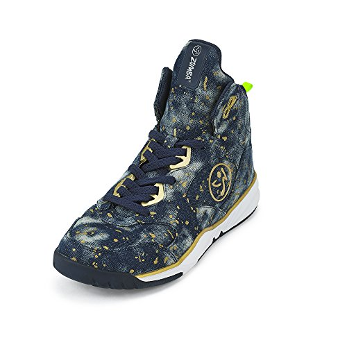 Zumba Footwear Damen Zumba Energy Boom Fitnessschuhe, Blau (Paint Splattered Denim), 41 EU (9.5 US)
