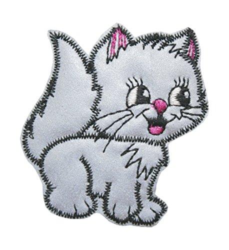 Katze gepunktet auch im Paar erhältlich Aufbügler Aufnäher NEU