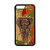 utaupia Coque pour Apple iPhone 7 Plus en Bois et Silicone Elephant Dessin Tribal...
