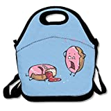ScutLunb Lunch Bag Donut Mishap Lunch Tote Lunch Box For Women Men Kids With Adjustable Strap
