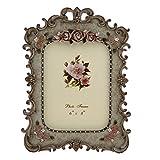 Vintage Resin Rose Flower Photo Frame Picture Frame Table Display 6 X 8