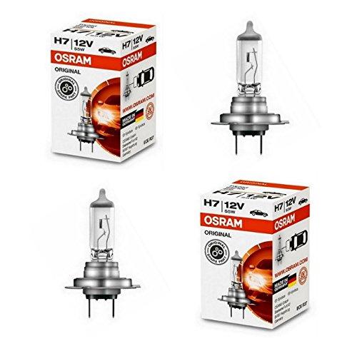 2x OSRAM H7 55W 12V Halogen Lampen Set original weiß 64210CLC Abblendlicht Fernlicht Nebelscheinwerfer