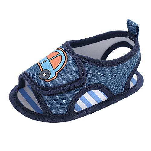 SOMESUN Baby Jungen Mädchen Sandalen Neugeborenes Kinder Sommer Modisch Süß Karikatur Auto Babyschuhe Weich Freizeit Atmungsaktiv Elastisch rutschfest Krippe Schuhe