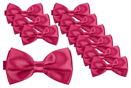 BomGuard Fliege für Herren pink I Männer Fliege für Hochzeit, Party oder edele Anlässe I Trendy Bow Tie I 10er Set Gold Bow Tie