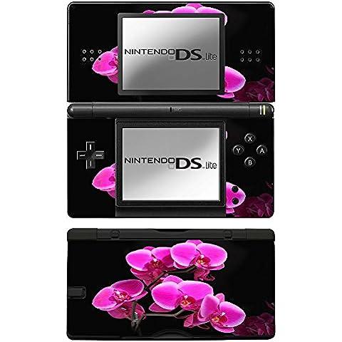 Fiore Rosa, Skin Autoadesivo Sticker Adesivi Pelle Cover Decal Set con Disegno Strutturato con Nintendo DS Lite
