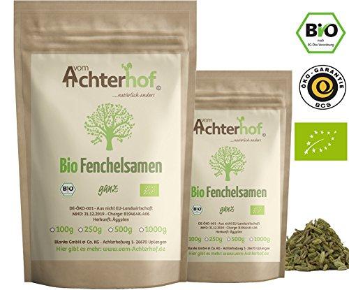 Fenchelsamen BIO süß ganz (1kg) | Fenchel Samen | Fencheltee | als Gewürz oder Fenchel Anis...