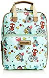 SwankySwans  Pembleton Owl Essex Backpack Bag Plus Tablet Case, Damen Satchel-Tasche Blau Hellbalu