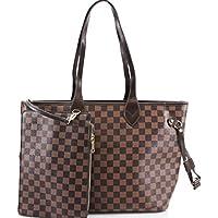 4d32c43f147 LeahWard Women s 2 IN 1 Shoulder Bag With Clutch Bag Designer Shopper Bags  Handbag For School