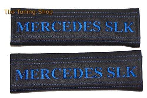 2x cintura cover imbottito spalla nero in pelle blu Mercedes SLK (Mazda 6 Oem Sostituzione)