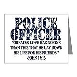 CafePress–Police Officer Gebet–Note Karten (PK 20Stück) matt