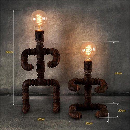 MTX Ltd Retro Persönlichkeit Eisen Tischlampe Bar Cafe Reminiscence Lampe, Stand