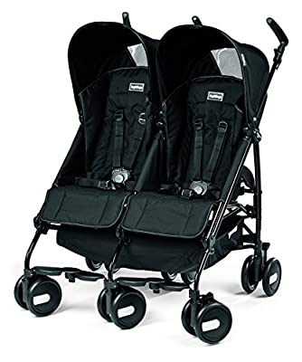 Peg Perego Pliko Mini Twin Baby Stroller, Onyx by Peg Perego