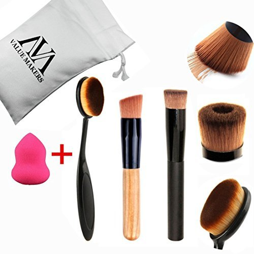 value-makers-foundation-brush-pinsel-mit-make-up-schwamm-tasche