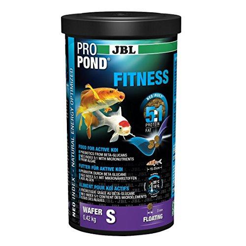 JBL 4131800 Futter für aktive Koi, Schwimmende Futterwafer, Spezialfutter, ProPondFitness, Größe S, 0,42 kg