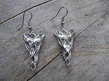 artench Herr der Ringe-Ohrringe Aragorn/Arwen (Evenstar), Anhänger, modische Zirkon-Ohrringe