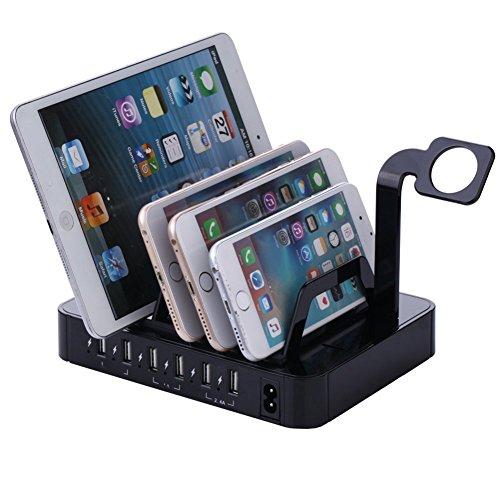 Garyesh Multi Schnell 6-Port USB-Aufladung Bahnhof Desktop Ladegerät Aufladen Bahnhof
