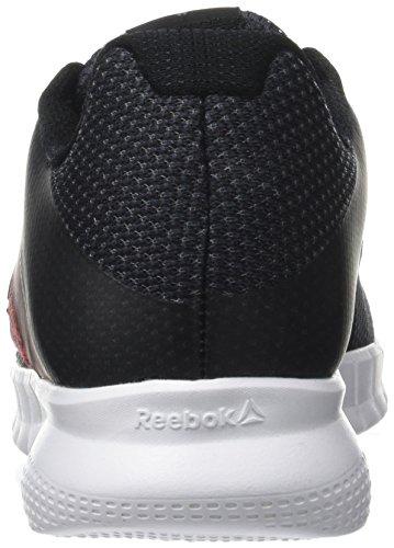 Reebok Mens Print Lite Run Scarpe Da Corsa Multicolore (carbone / Primal Rosso / Bianco / Nero)