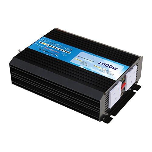 1000W 48V Pure Sine Wave Inverter alimentazione AC 48Volt Batteria a 240Volt corrente elettrica, potenza di picco (2000W)